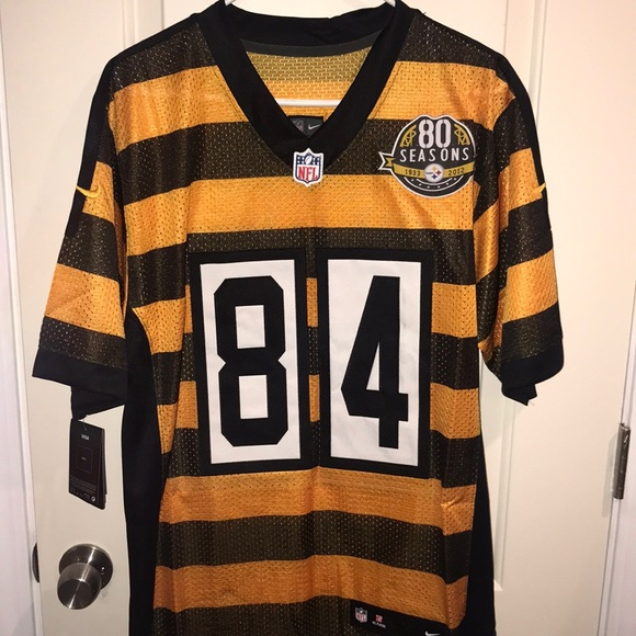 steelers bumblebee jersey antonio brown
